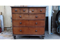 Lovely old wood chest of draws
