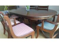 Dining Table & Chairs - Double Pedestal
