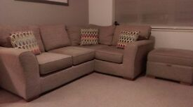 NEXT corner sofa and storage footstool - Excellent condition