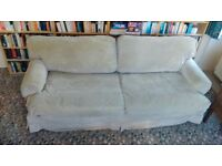 Sofa, 4 seater / Sofa bed, king-size, beige corduroy, clean and very good condition