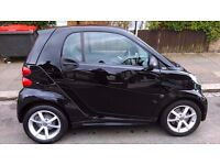 Smart Car, For Two, Black, Leather Trim, LED daylights, Semi-Auto, full service, first MOT