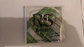1 Set Acoustic Guitar Strings .012 .016 .024 .032 .042 .053 Light Rock Skool Strings
