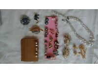 Beauiful Vintage Jewellery for sale to include clip on earing, necklace, broaches