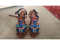 Beaded heeled sandals from Miso, size 6