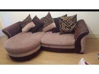 Modern DFS Sofa Brown Beige Mink Cheap Corner L