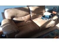 Leather three seater sofa; Bargain price, but must be removed from lounge.