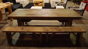 Table à manger en bois massif style rustique - Table Bois - Rustique - MÉGA VENTE