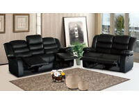 ROSIE 3 AND 2 SEATER LEATHER RECLINER SOFA - CASH ON DELIVERY OR 0% FINANCE OPTIONS