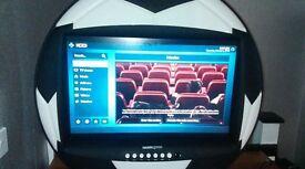 "Football Shaped LCD TV 28"" screen"
