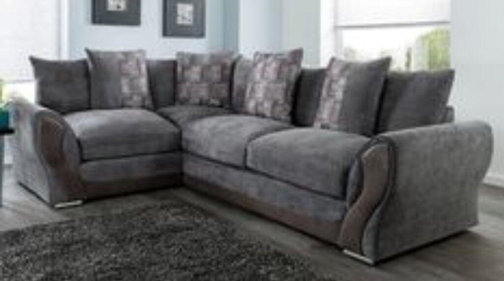 Grey Brand New Annie Corner Sofa Free Delivery