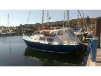 husky 24 foot fibreglass motor sailer