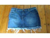 Denim Mini Skirt (UK 10)