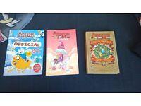 3 Adventure Time Books (Comic book, Sticker activity book, encyclopedia)