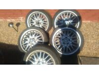 bmw e46 mv1 msport wheels set of 5 18s
