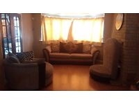 Sofas Swivel sofa,Normal sofa and long mattress with a mini table to go under the leg rest