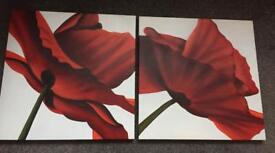 Lovely pair of canvasses
