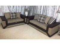 2017 new dino brown mocha sofa top quality khadi fabric 3 & 2 seater spring base foam seats corner