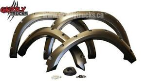 GRIZZLY FENDER FLARES !! DODGE RAM FORD CHEVROLET ----- $299 ONLY !!