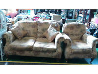 Clearance of furniture items uncluding sofa and chair,carved chest, pictures, mirrors,rugs etc.
