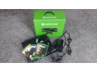 Xbox one Console + 3 games (boxed)
