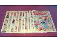 Selection of Dandy comics from July 1993 to June 1995 10 magazines alltogether very good condition