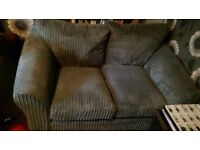 2 seater grey cord sofa, really comfy and good condition