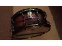 "14"" WorldMax Micro Vent Steel Snare Purple/Black Burst"