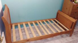 Single bed frame Pine. £ 100 ono