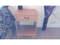 Bedside table - beech effect in nice condition