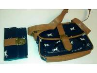 Horse-print handbag and purse NEW