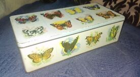 Butterfly Tin Frears 1962 Vintage