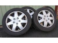 4 Winter tyres on steel wheels