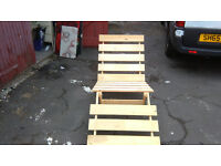ikea wooden futon chair/lounger thingy