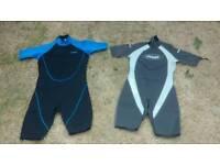 Wet suits x 2 shorties