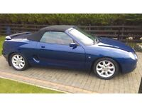For sale MGF Sports 2000 colour blue red leather interior