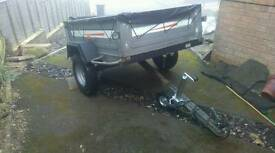 Erde metal 142 trailer tipper tailgate cover jockey wheel mint condition