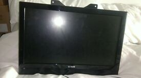 "Luxor 19"" TV/DVD with wall bracket."