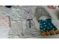 baby girl playsuit and dress bundle 9-12 Months