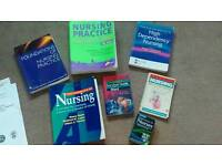 Bundle of nursing / student nurse reference books degree/diploma