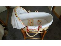 Winnie the Pooh Moses Basket & Obaby stand (rocker)