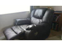 Recliner armchair with 360 swivel action - Brown Leather