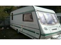 5 berth caravan with awning