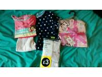 Girls pyjamas and vests 4-5