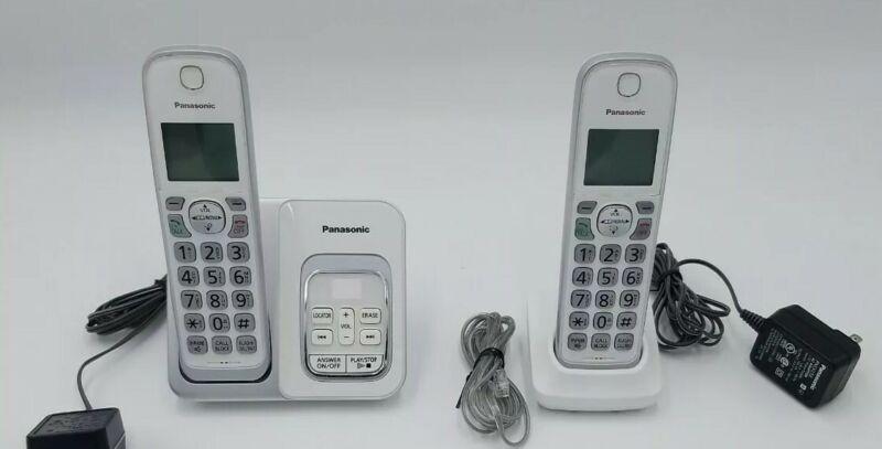 Panasonic DECT 6.0 Expandable Cordless Phone - KX-TGD530 W - 2 Handset Phone Set