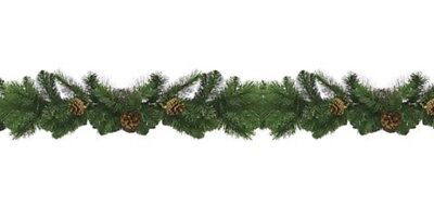 Darice Great Mountain Artificial Pine Garland with Pinecones-Green-9