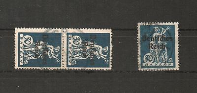 H14016  Deutsches Reich    Mi. Nr. 123  PF I  2x  gestempelt geprüft BPP