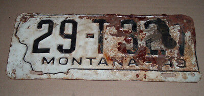 1949 Montana License Plate Tag 29-T327