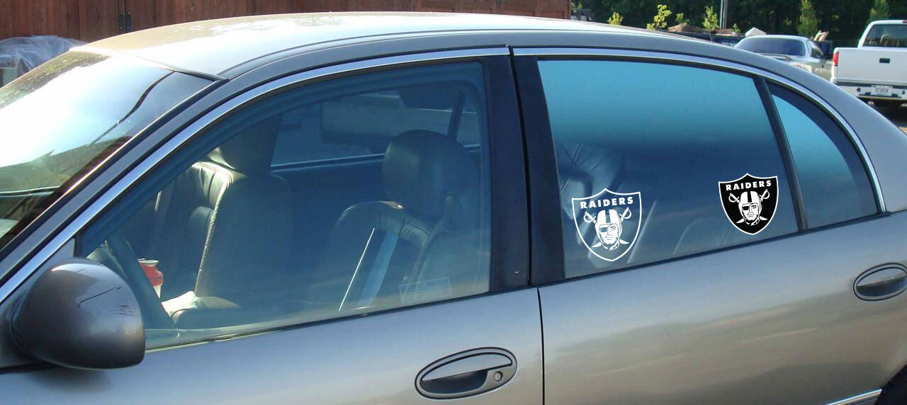 NFL football window bumper sticker vehicle decals - Every team - Color or White