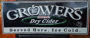 GROWERS DRY CIDER METAL ADVERTISING SIGN! $70