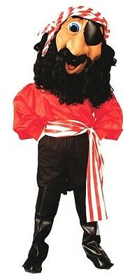Professional Pirate Costumes (Billy Bones Professional Quality Pirate Mascot Costume Adult)